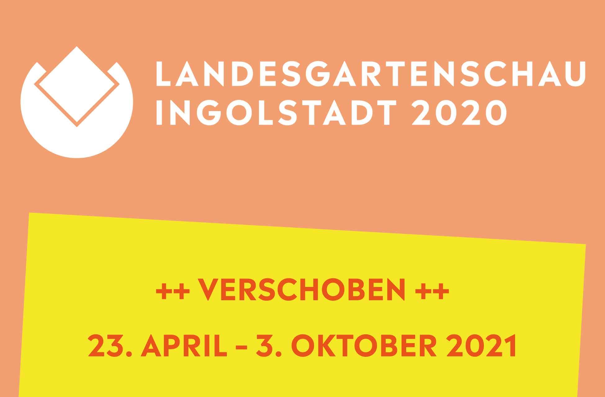 Die Landesgartenschau Ingolstadt 2020 (Logo) wurde auf 2021 verschoben.